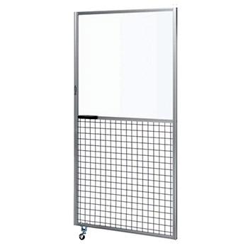 サカエ アルミ安全柵 高さ2000用扉 上部透明