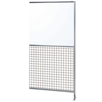 サカエ アルミ安全柵 連結 上部透明塩ビ板 高さ2000 幅1000