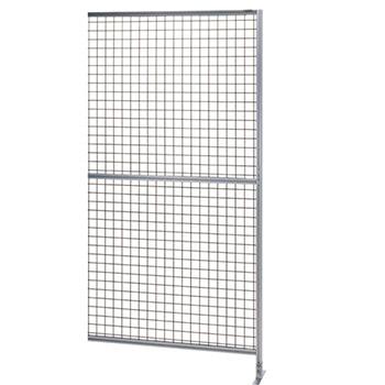 サカエ アルミ安全柵 連結 全面50ピッチ金網 高さ2000 幅1000