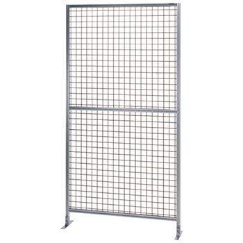 サカエ アルミ安全柵 単体 全面50ピッチ金網 高さ2000 幅1030