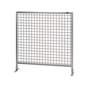 サカエ アルミ安全柵 単体 全面50ピッチ金網 高さ1075 幅1030