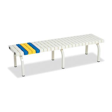 ホームベンチ 1500 背無し 脚部粉体塗装 樹脂製 ホワイト