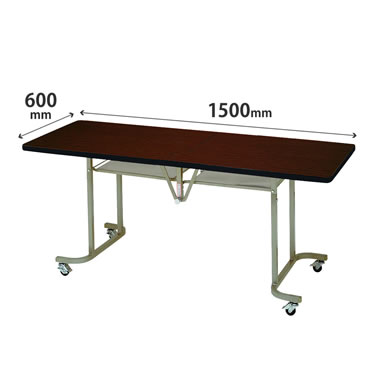 フライトテーブル 角型 ソフトエッジ巻 幅1500mm×奥行600mm ローズ