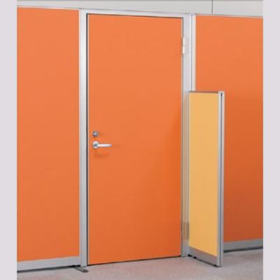 パーテーションLPX 右開き窓なしドアパネル 高さ1900 オレンジ