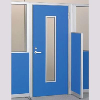 パーテーションLPX 右開き窓付ドアパネル 高さ1900 ブルー