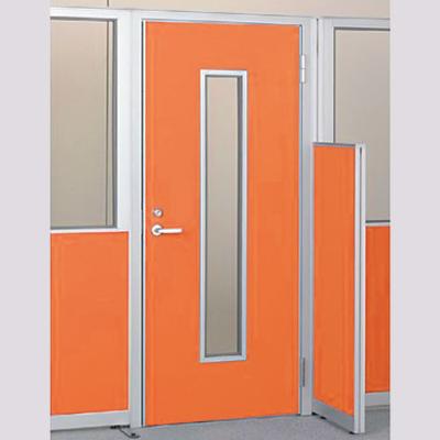 パーテーションLPX 右開き窓付ドアパネル 高さ1900 オレンジ