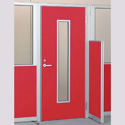 パーテーションLPX 右開き窓付ドアパネル 高さ1900 レッド
