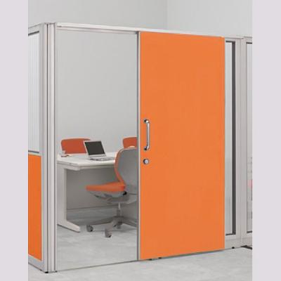 パーテーションLPX 片引き窓なしドアパネル 高さ1900 オレンジ