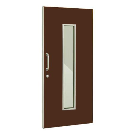 パーテーションLPX 片引き窓付ドアパネル 高さ1900 ブラウン