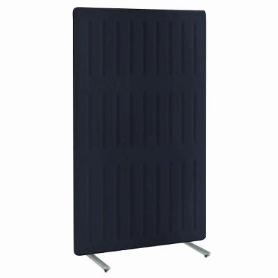 フリースタンディングパネル マッフル 直線パネル 単体 キャスター付 高さ1700 幅1100 ブラックベリー 枠:ブラック