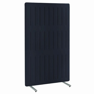フリースタンディングパネル マッフル 直線パネル 単体 キャスター付 高さ1700 幅1200 ブラックベリー 枠:ブラック
