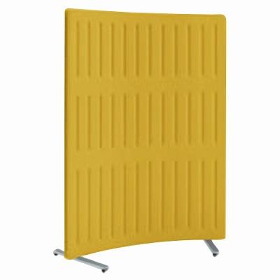 フリースタンディングパネル マッフル Rパネル 単体 キャスター付 高さ1700 カモミール 枠:ペールグレー