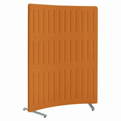 フリースタンディングパネル マッフル Rパネル 単体 キャスター付 高さ1700 パンプキン 枠:ペールグレー
