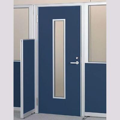 パーテーションLPX 左開き窓付ドアパネル 高さ1900 ネイビー