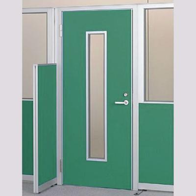 パーテーションLPX 左開き窓付ドアパネル 高さ1900 グリーン
