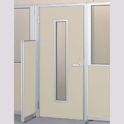 パーテーションLPX 左開き窓付ドアパネル 高さ1900 ベージュ