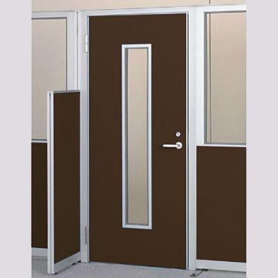 パーテーションLPX 左開き窓付ドアパネル 高さ1900 ブラウン