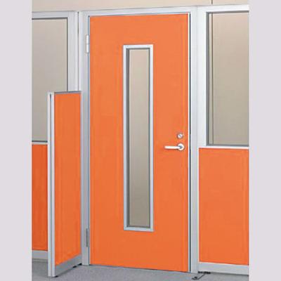 パーテーションLPX 左開き窓付ドアパネル 高さ1900 オレンジ