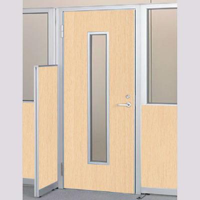 パーテーションLPX 左開き窓付ドアパネル 高さ1900 ライト木目