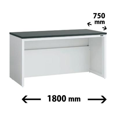 実験台 片面 配線カバータイプ 幅1800 奥行き750