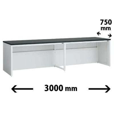 実験台 片面 配線カバータイプ 幅3000 奥行き750