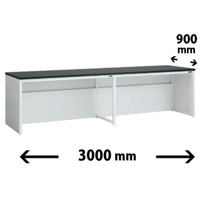 実験台 片面 配線カバータイプ 幅3000 奥行き900