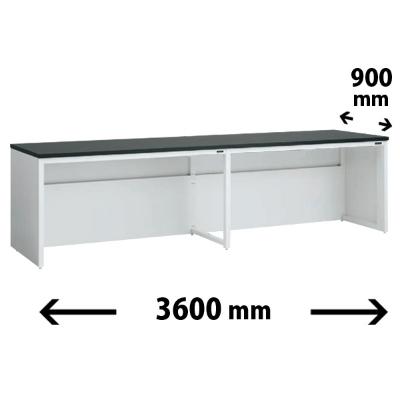 実験台 片面 配線カバータイプ 幅3600 奥行き900