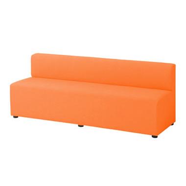 LB79ボックスロビーソファ 3人用イス オレンジ
