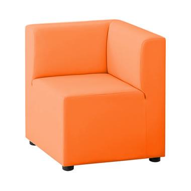LB79ボックスロビーソファ コーナーイス オレンジ