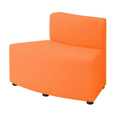 LB79ボックスロビーソファ 外コーナーイス オレンジ