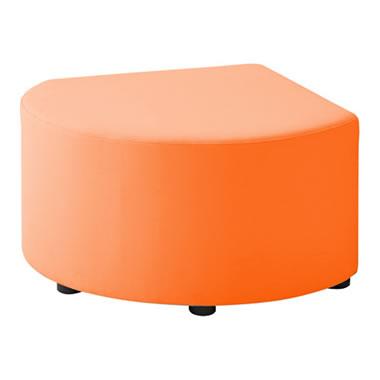 LB79ボックスロビーソファ スツール異形B オレンジ