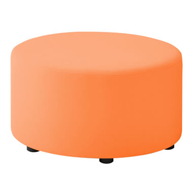 LB79ボックスロビーソファ 丸スツール オレンジ