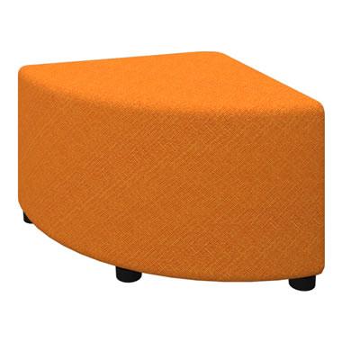 LB79ボックスロビーソファ 1/4Rスツール オレンジ