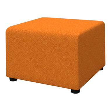 LB79ボックスロビーソファ 角スツール オレンジ