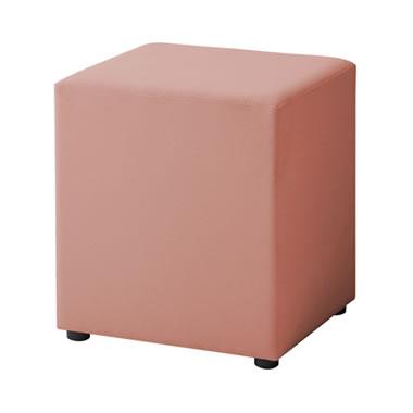 LB79ボックスロビーソファ 角ハイスツール ピンク