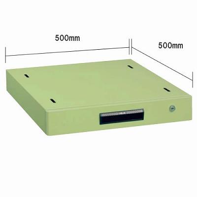 軽量作業台 奥行600mm用一段キャビネット グリーン