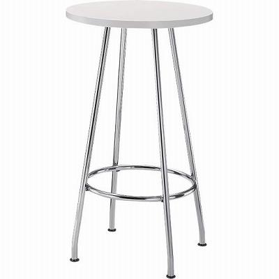 リフレッシュテーブル ハイタイプ 円形 φ600 ホワイト