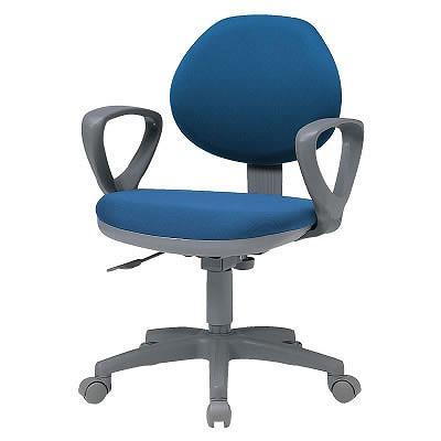 オフィスチェアー 肘付 ブルー