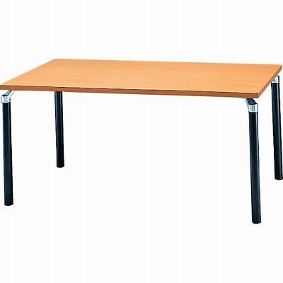会議テーブル 幅1500×奥行900mm ナチュラル ブラック脚