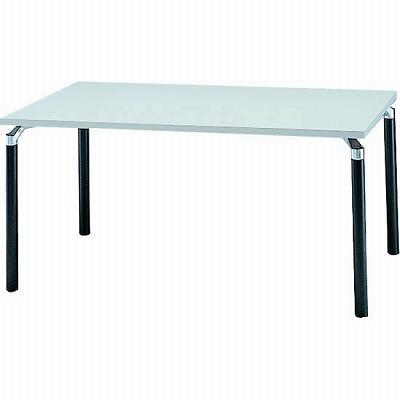 会議テーブル 幅1500 奥行900 アルミダイキャストブラック脚 ライトグレー天板