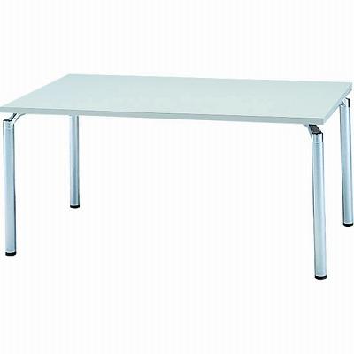 会議テーブル 幅1500 奥行900 アルミダイキャストシルバー脚 ライトグレー天板