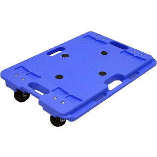 樹脂連結ドーリー エラストマーキャスター ブルー 2台セット