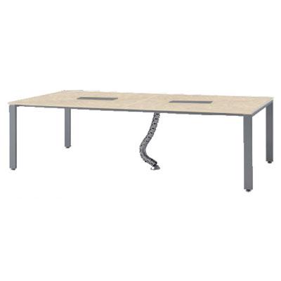 会議テーブル 幅2400×1200mm ナチュラル