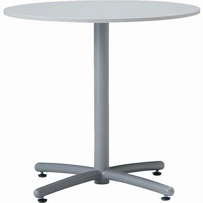 会議テーブル UTS φ750 シルバー脚 ホワイト