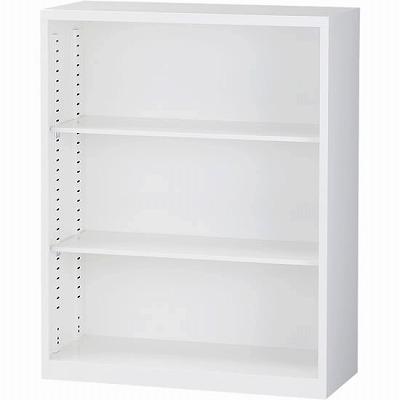 オープン書庫 下置用 ホワイト 幅880×奥行380×高さ1110mm