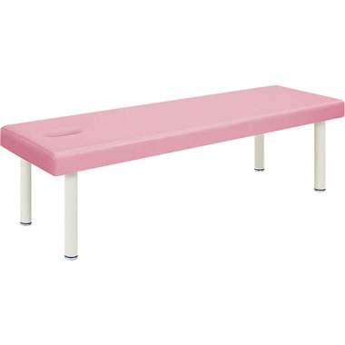 診察台 ピンク 有孔タイプ