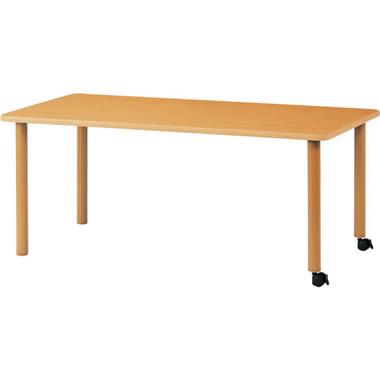 ハイアジャスターテーブル キャスター脚 幅1800mm