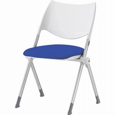 スタッキングミーティングチェア  背樹脂 座ブルー