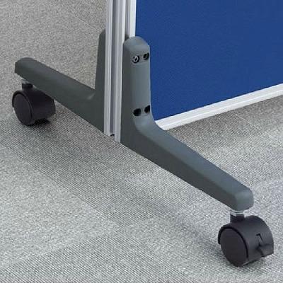 ローパーテーション LPEシリーズ用オプション 安定脚 キャスター付 両側用