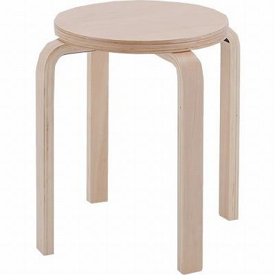 木製丸椅子 ナチュラル 4脚セット